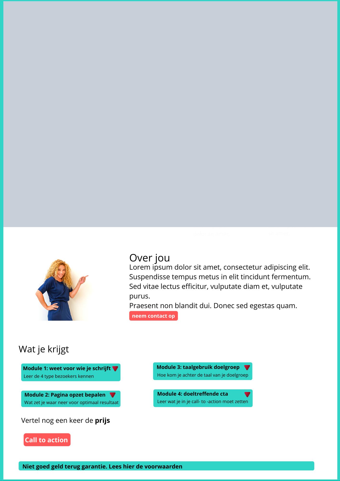 Elementen die bezoeker  type 3 en 4  nodig hebben om een beslissing te maken. - De Content Agency